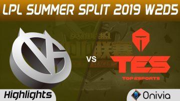 VG vs TES Highlights Game 1 LPL Summer 2019 W2D5 Vici Gaming vs Top Esports LPL Highlights by Onivia